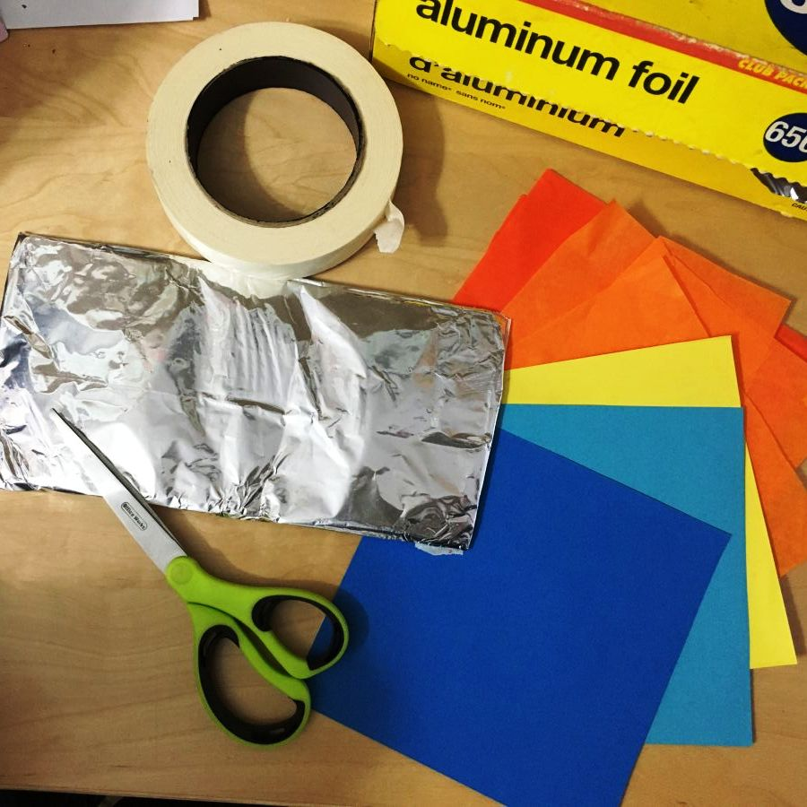 tinfoil collage supplies